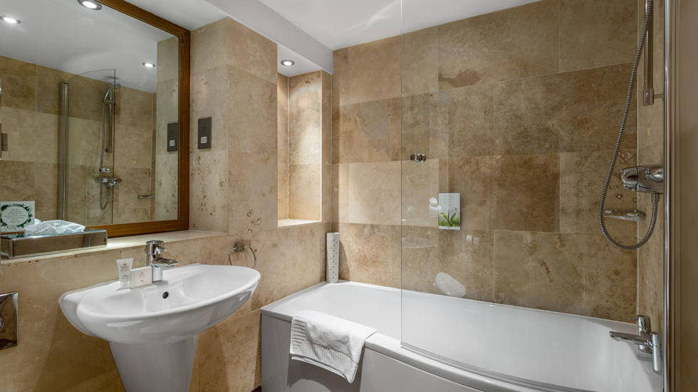 Double Room Bathroom at Woodford Bridge Country Club
