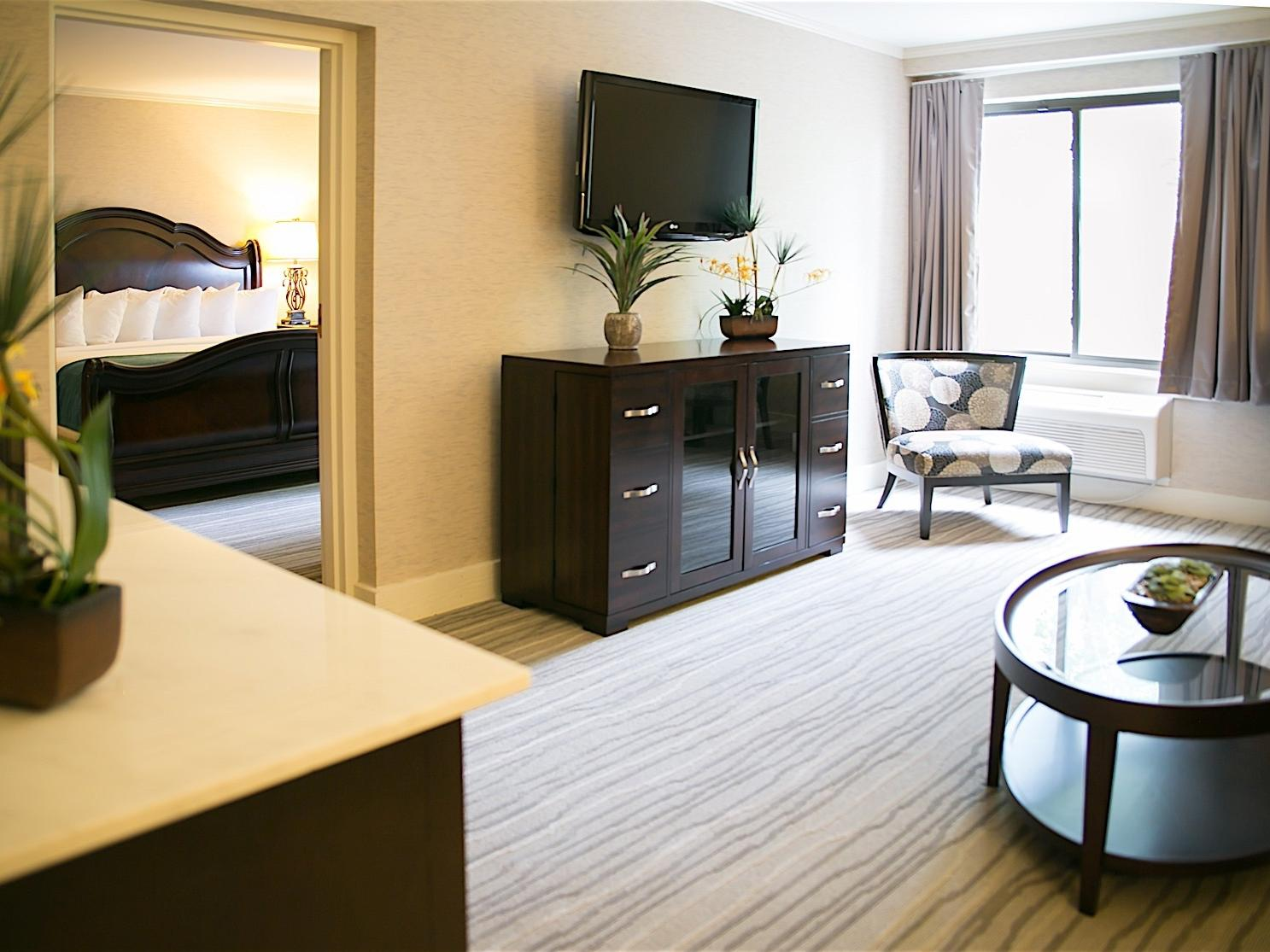 Hotel suite with television