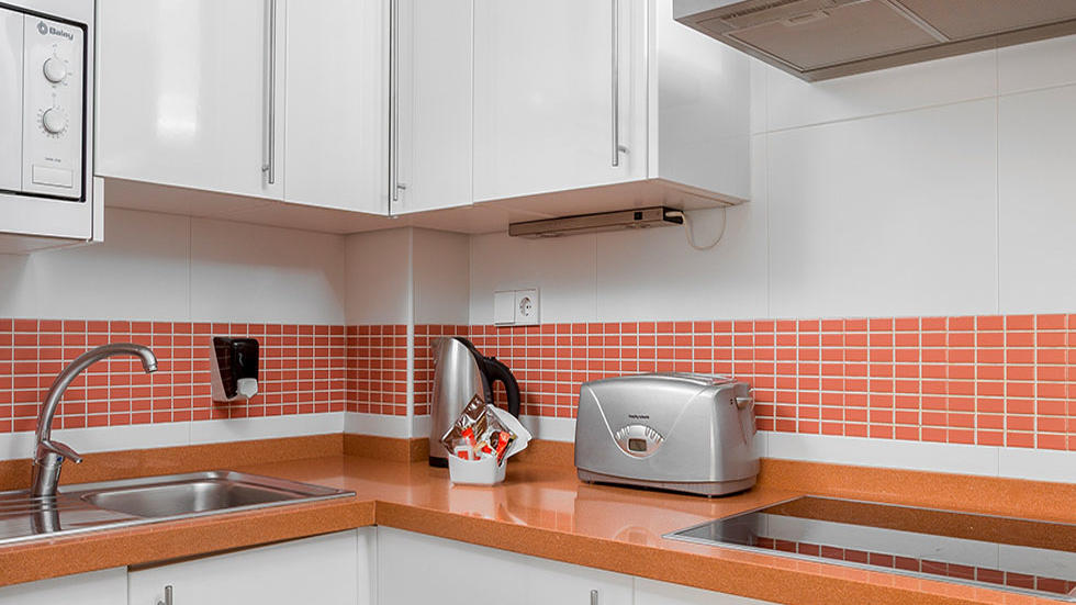 Two Bedroom Apartment Kitchen Table at Sahara Sunset