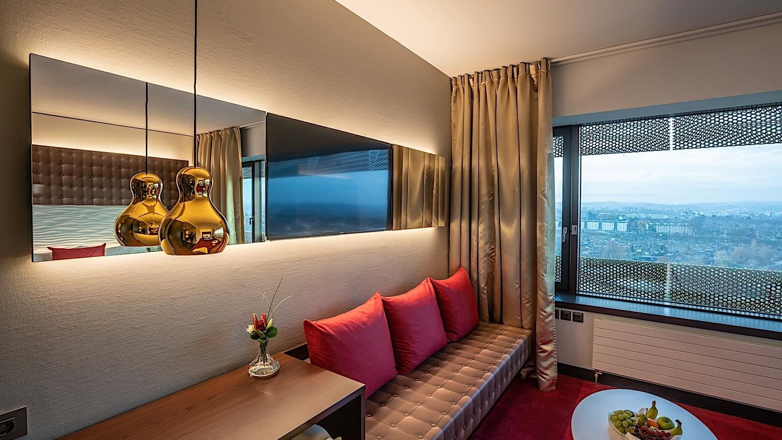 Executive Room Living Room at Airport Hotel Basel