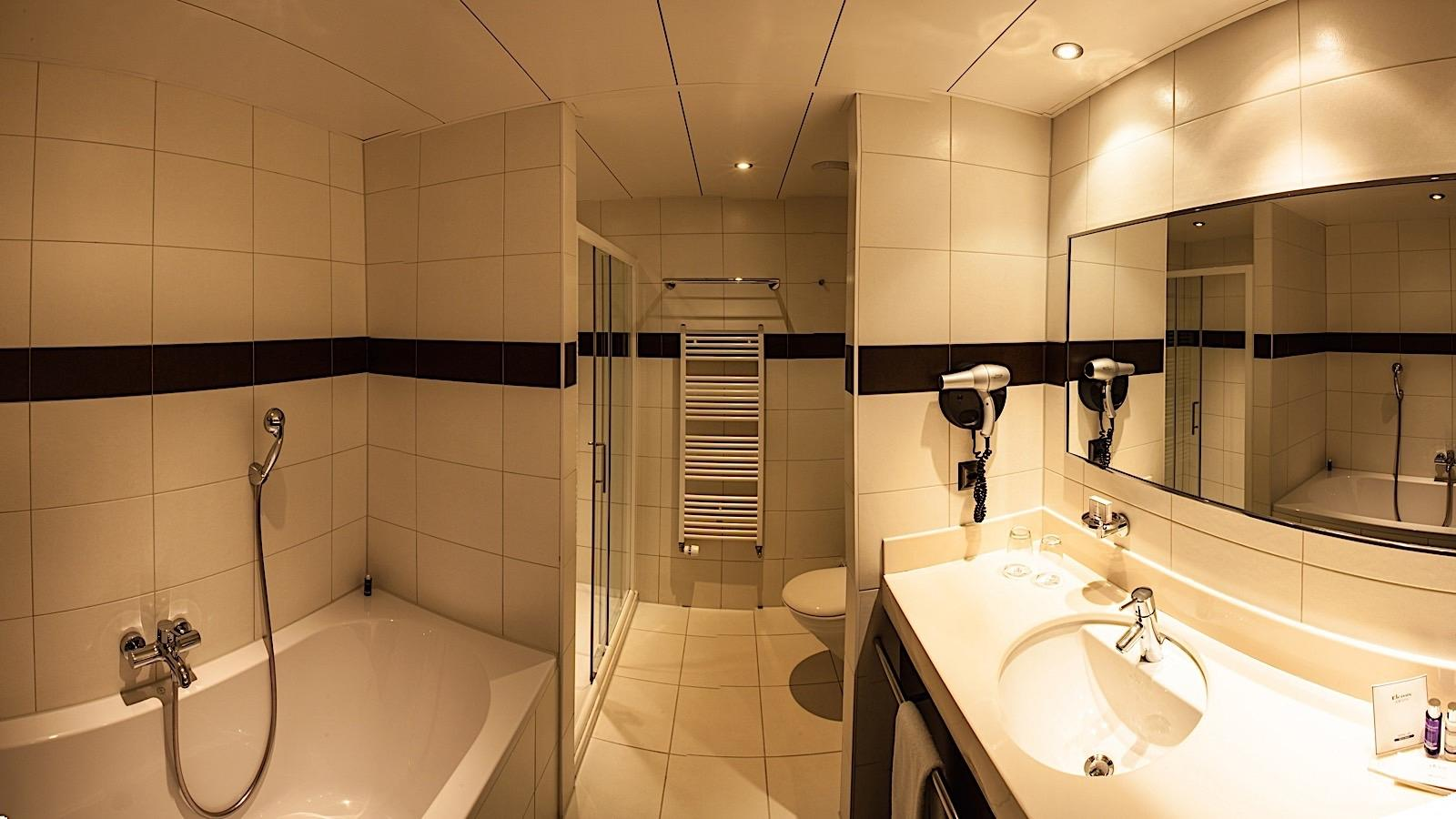 Executive Room Bathroom at Airport Hotel Basel