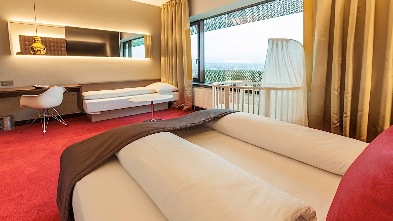 Family Room Bed at Airport Hotel Basel