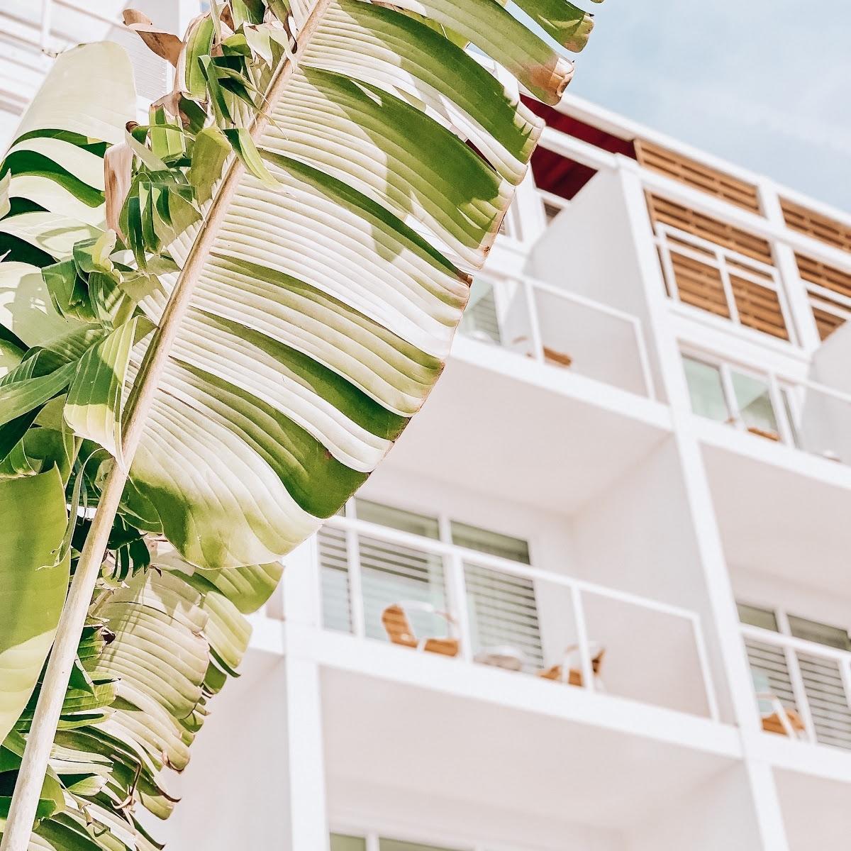 exterior view of balconies