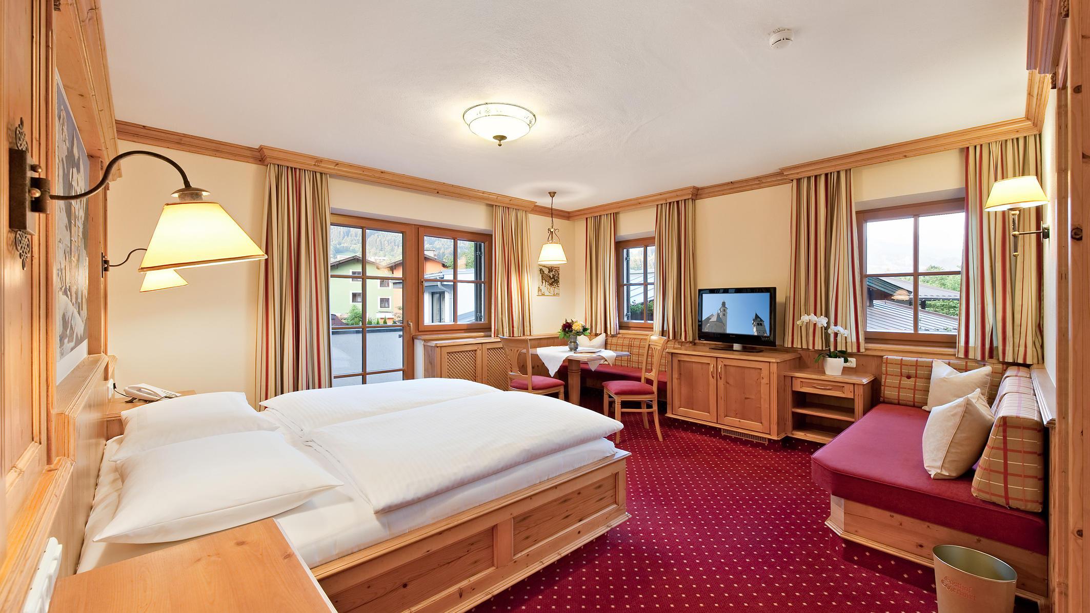 Double Room at Gasthof Eggerwirt Hotel in Kitzbühel, Austria