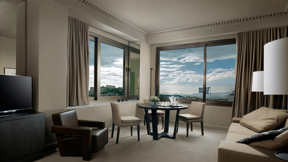 acrpolis panoramic view suite at NJV Athens Plaza hotel