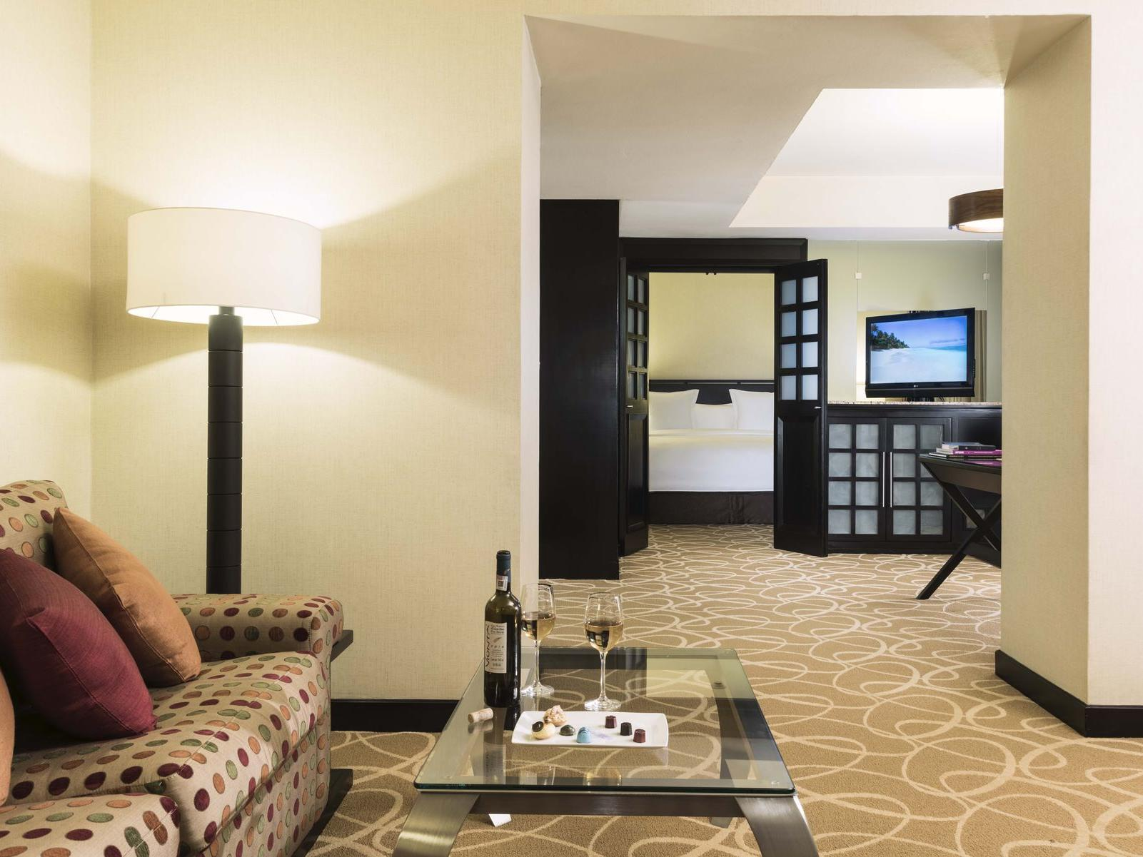 master Suite sitting area at Marquis Reforma