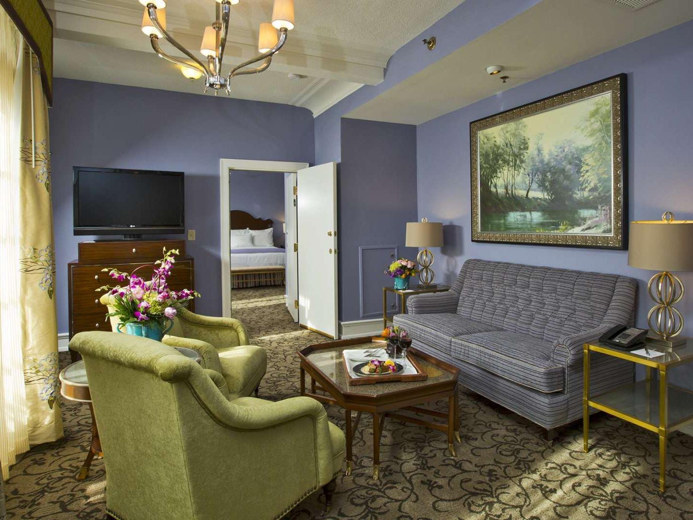 Peabody Junior Suite Parlor Seating Area
