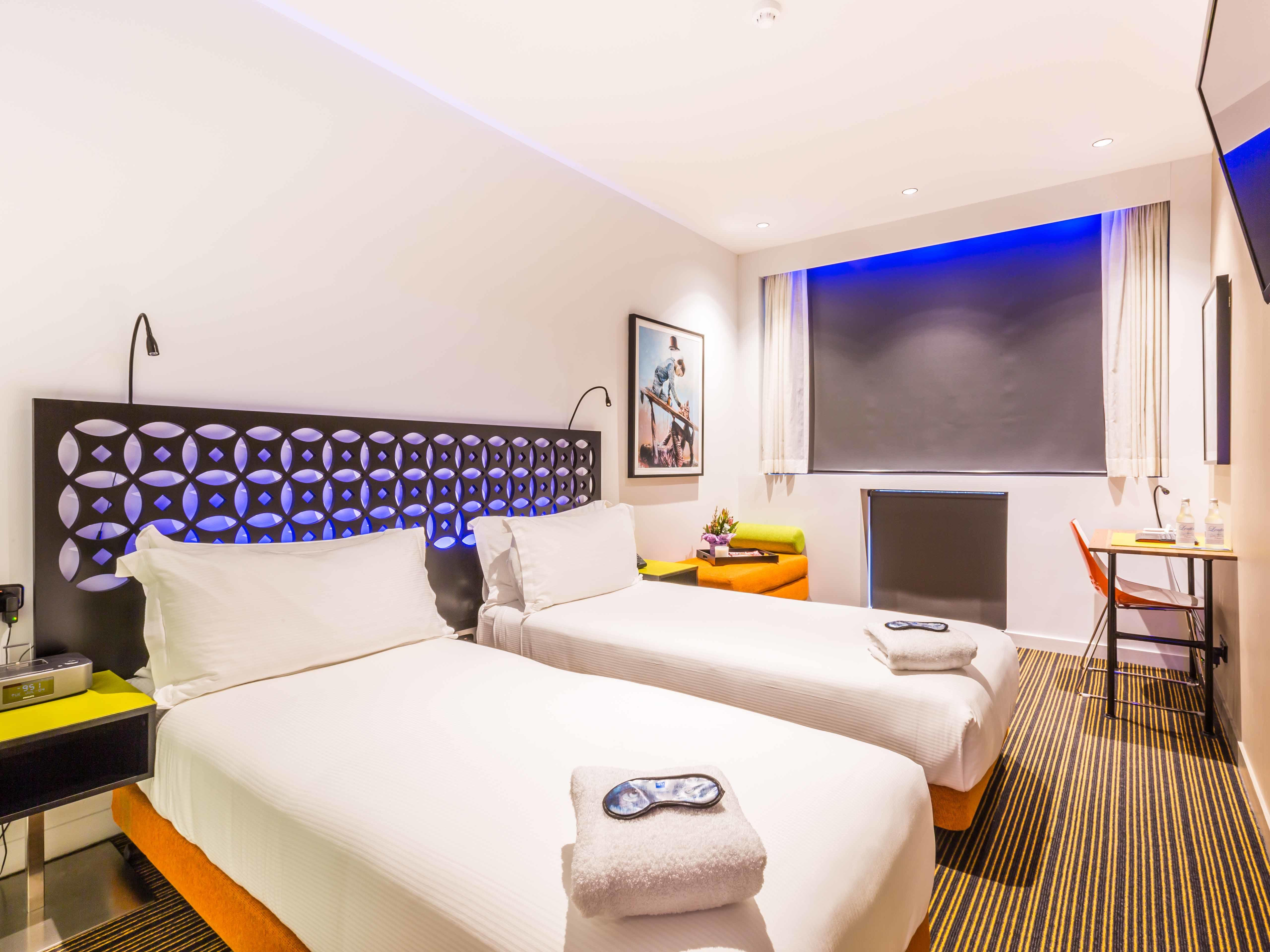 Enjoy comfort and space in the Twin Room at the Constance