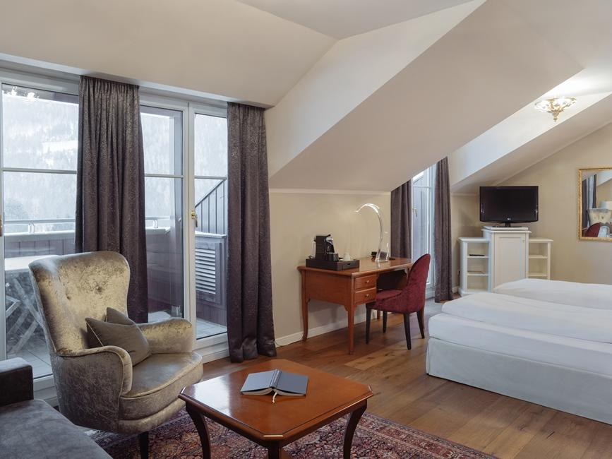 Double Room Deluxe with Balcony at Schloss Pichlarn