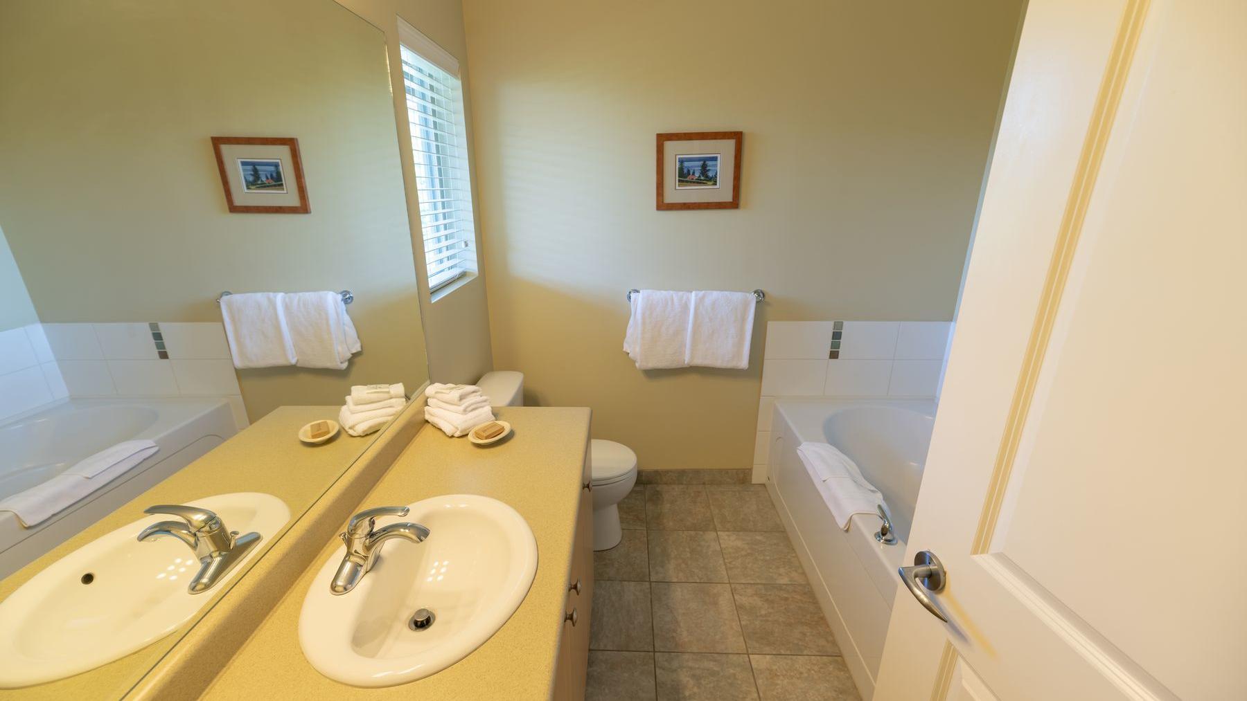 three bedroom suite bathrooms