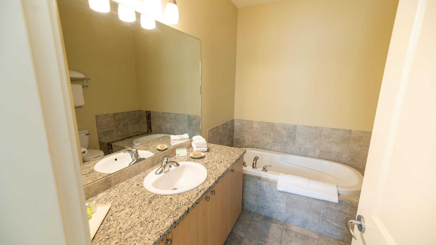 Two Bedroom suite bathroom lakeview