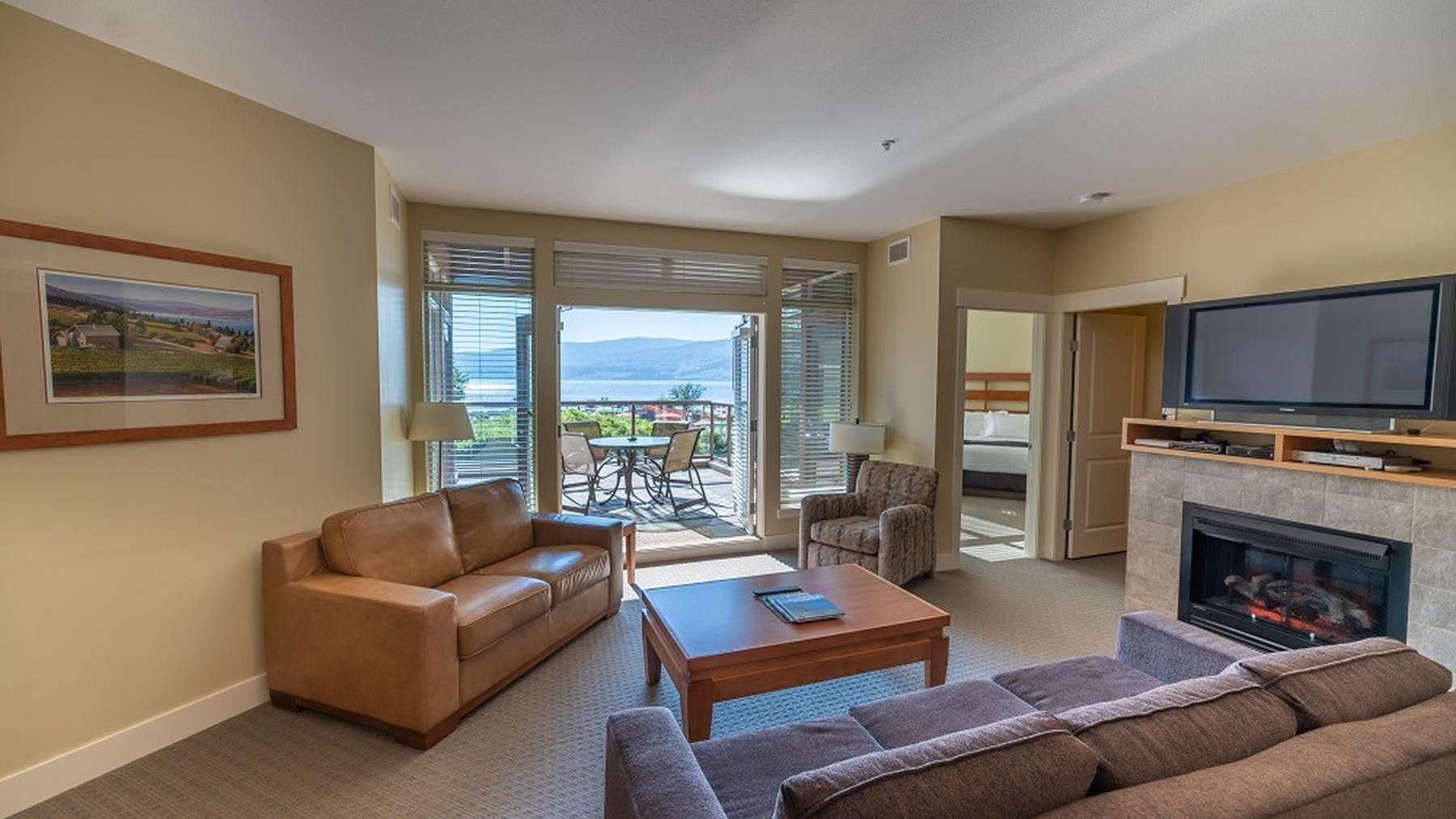 Two Bedroom suite living room premium lakeview