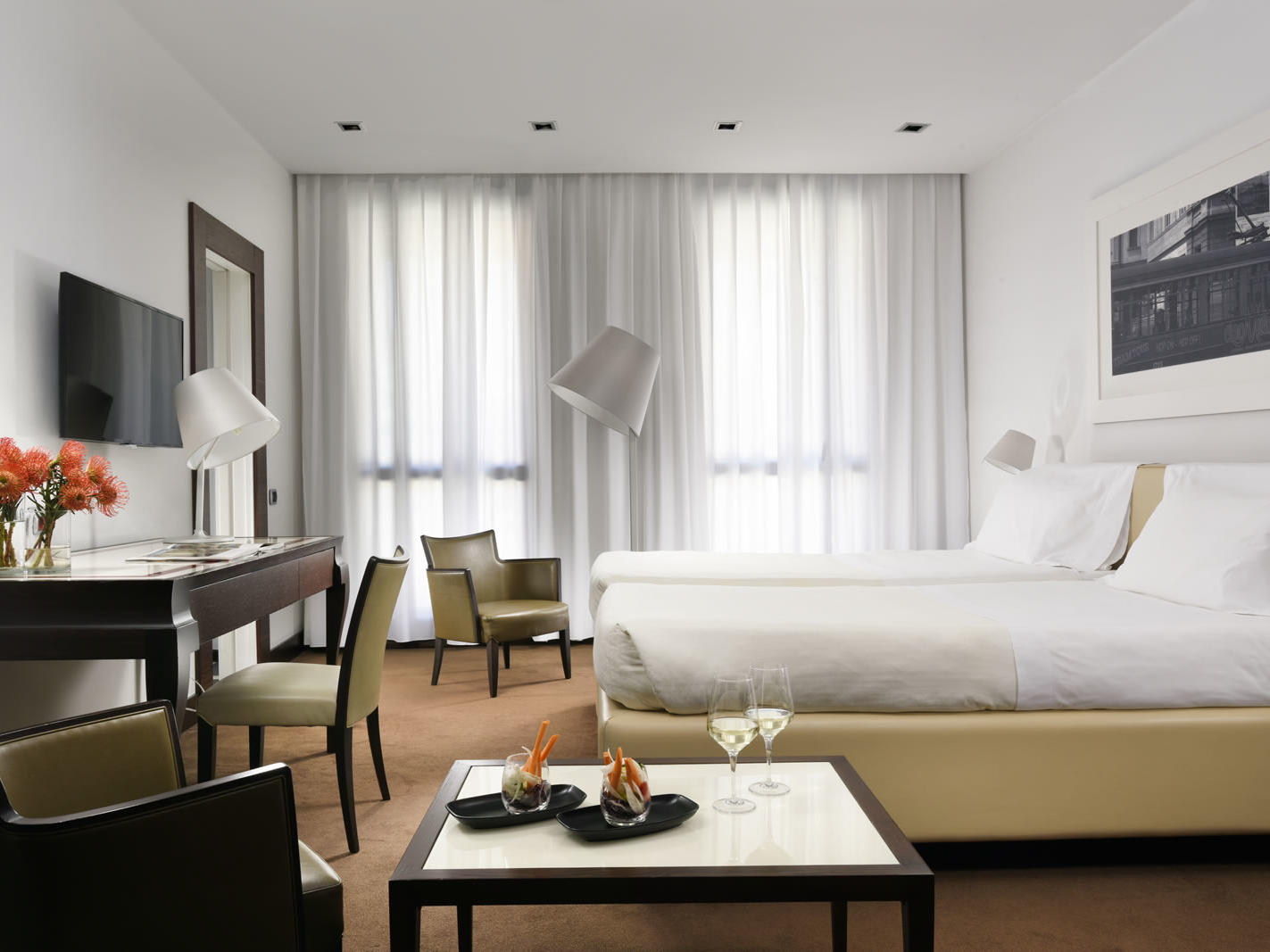 Executive Twin room | UNAHOTELS Cusani Milano