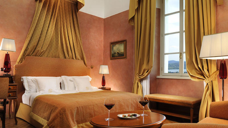Lake View Deluxe Room at Castello dal Pozzo in Oleggio Castello, Italy