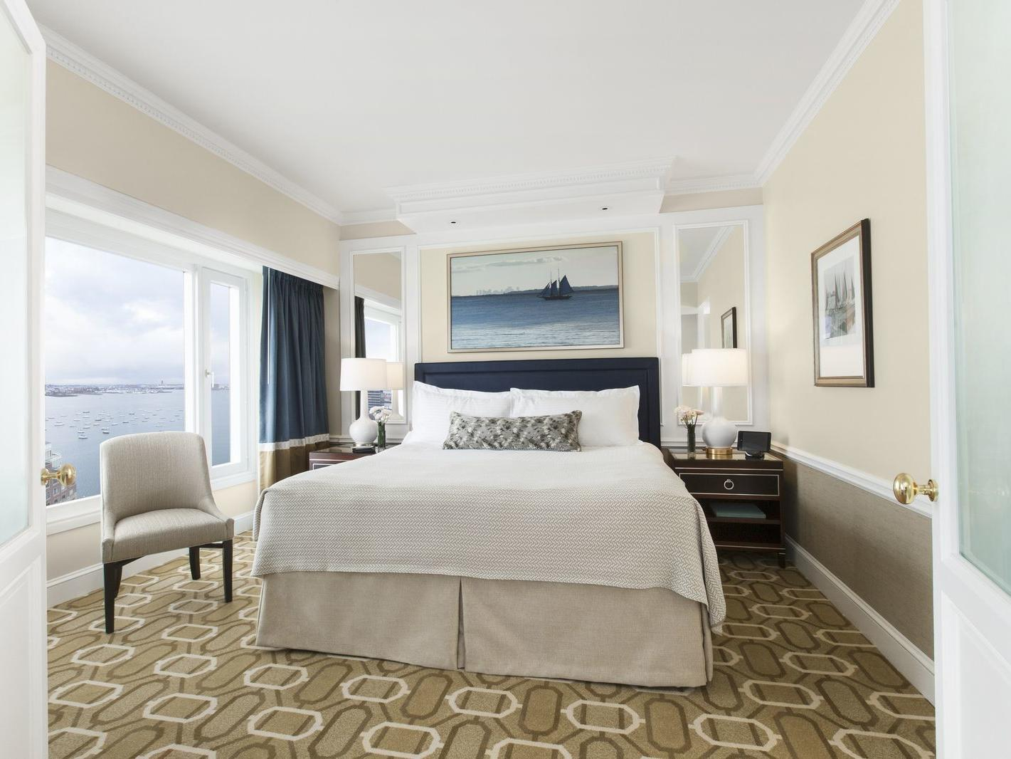 Guest bedroom with harbor view