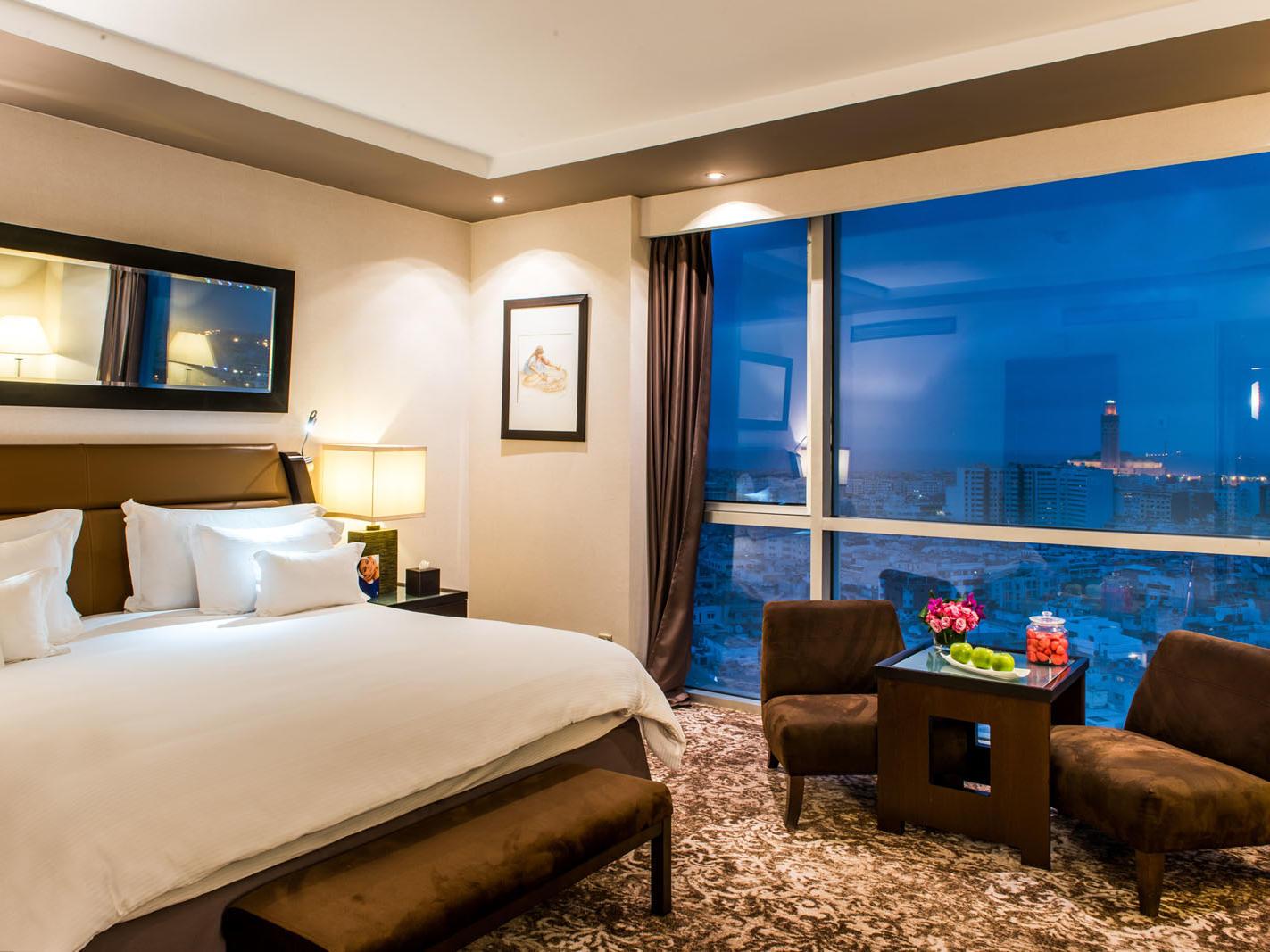 Deluxe Sky Room at Kenzi Tower Hotel in Casablanca, Morocco
