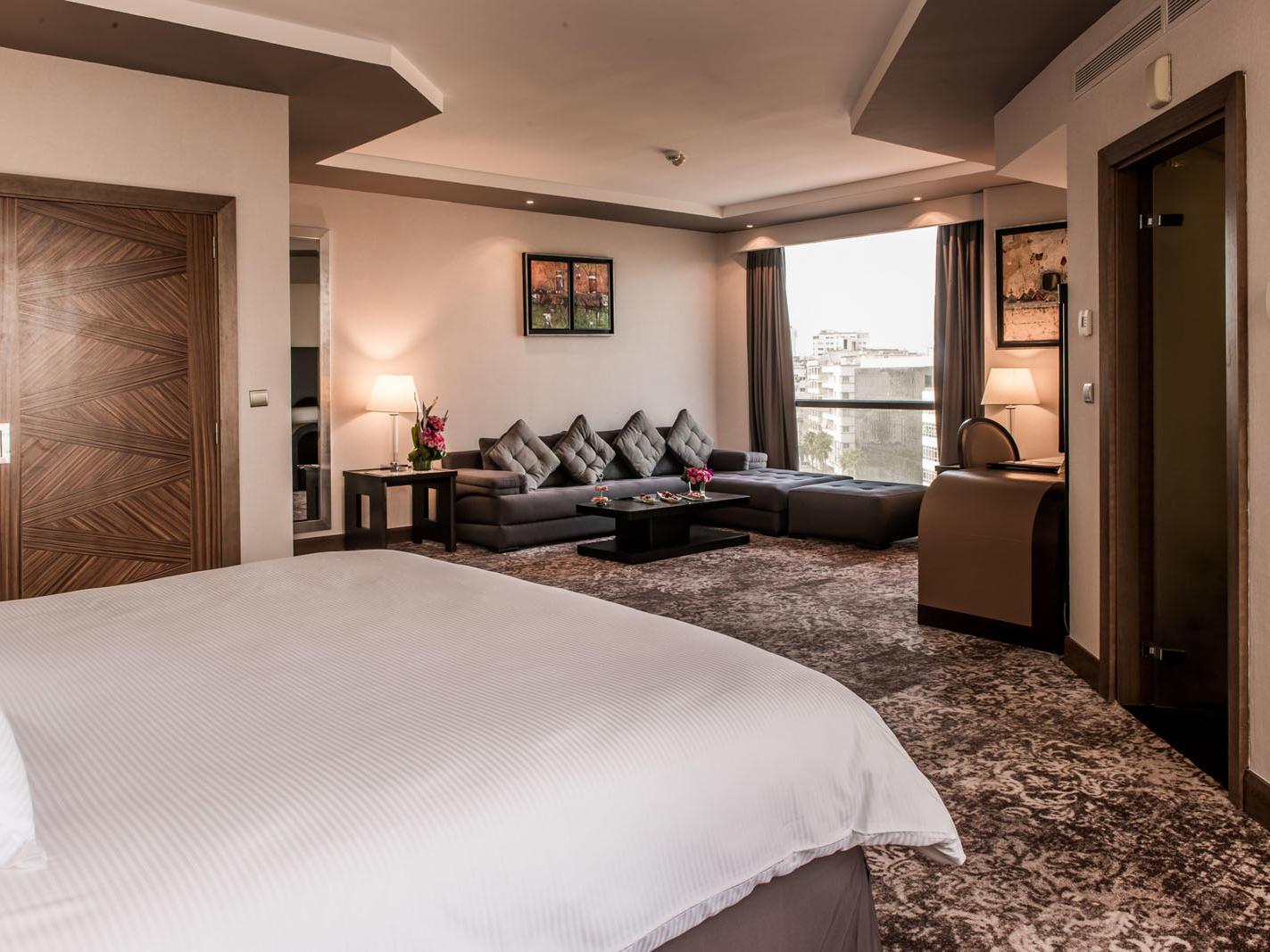 Junior Suite at Kenzi Tower Hotel in Casablanca, Morocco