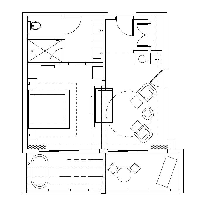 floorplan of deluxe standard room
