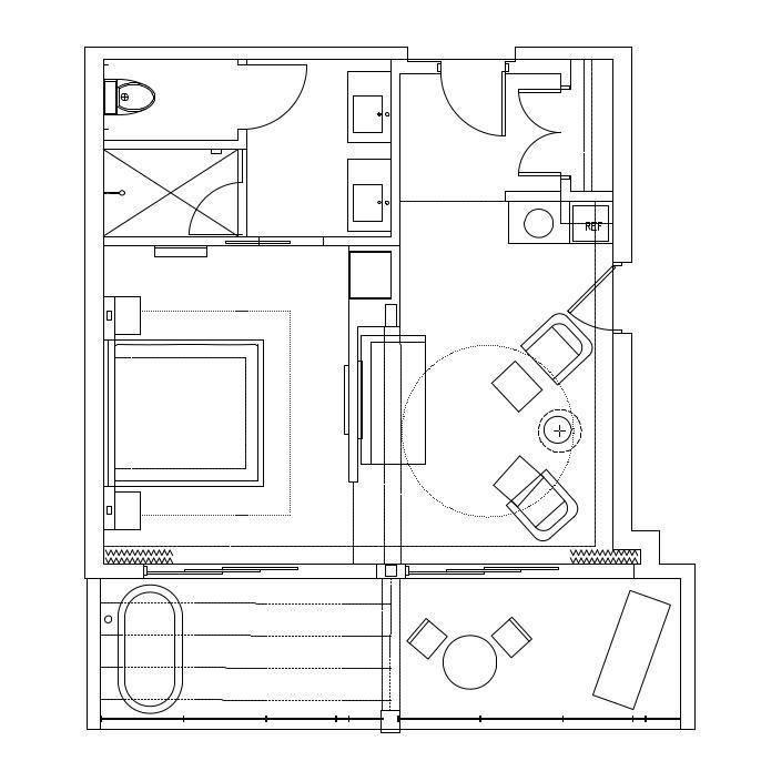 floorplan of deluxe standard room