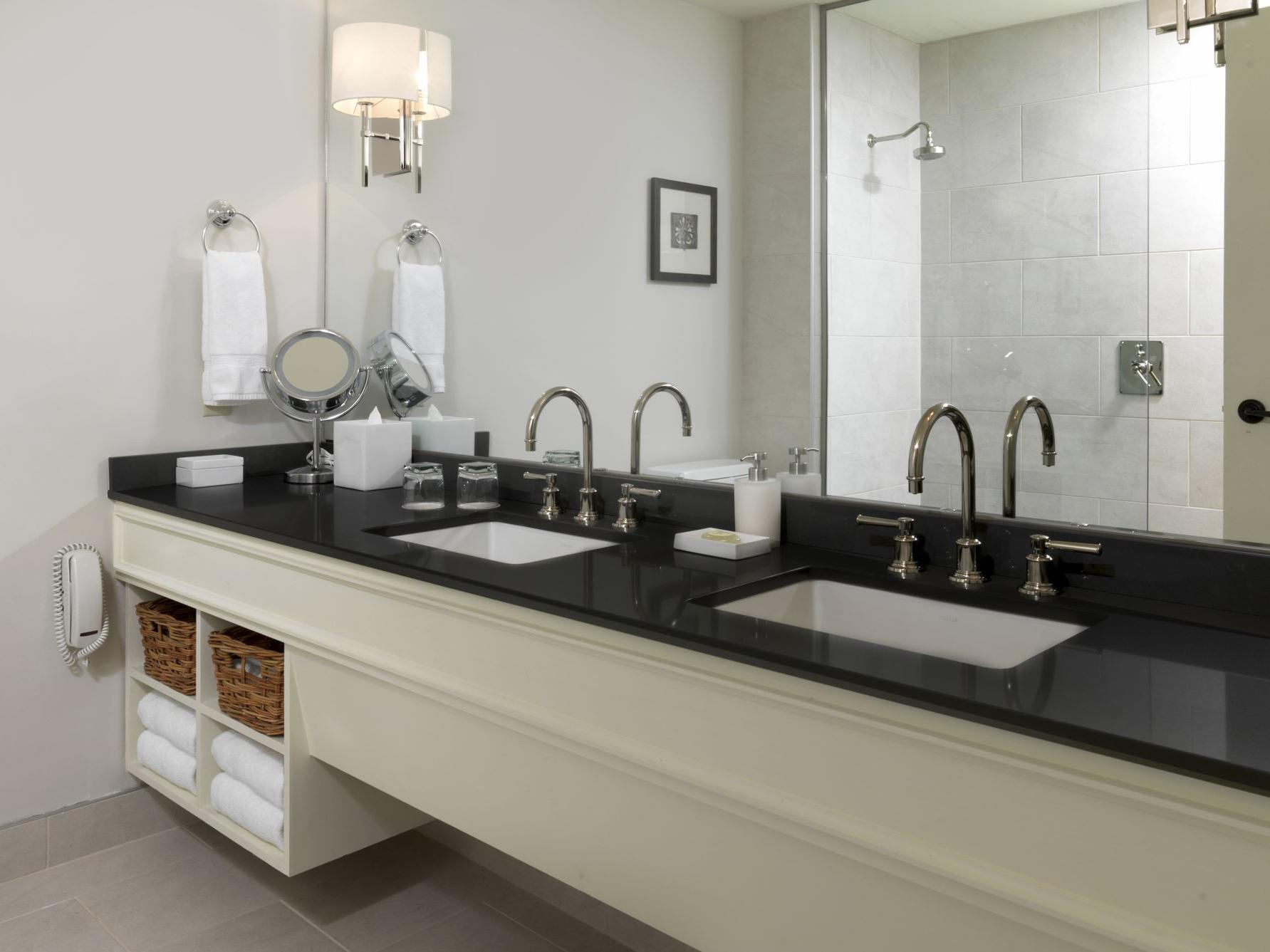 Hotel suite bathroom