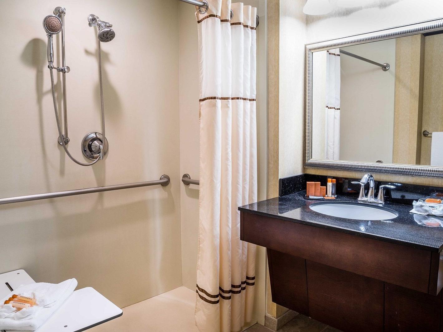 Accessible hotel bathroom