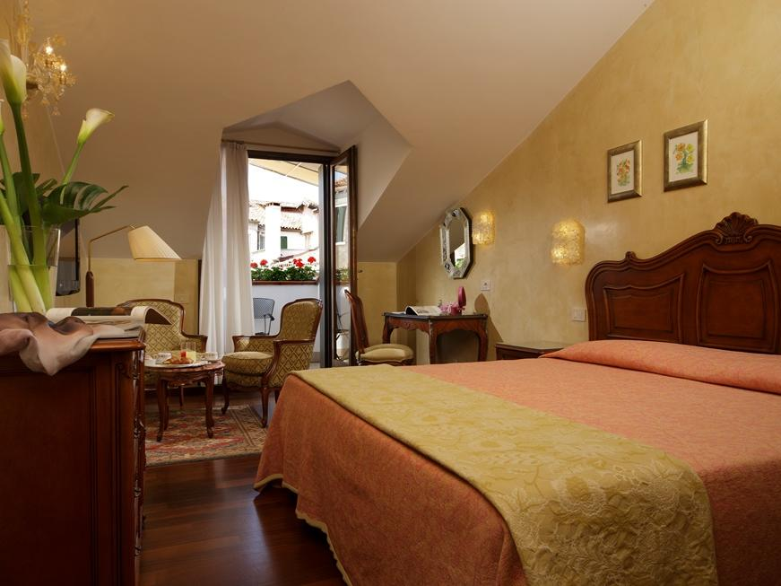 Superior room with terrace at Hotel Bisanzio in Venice, Italy