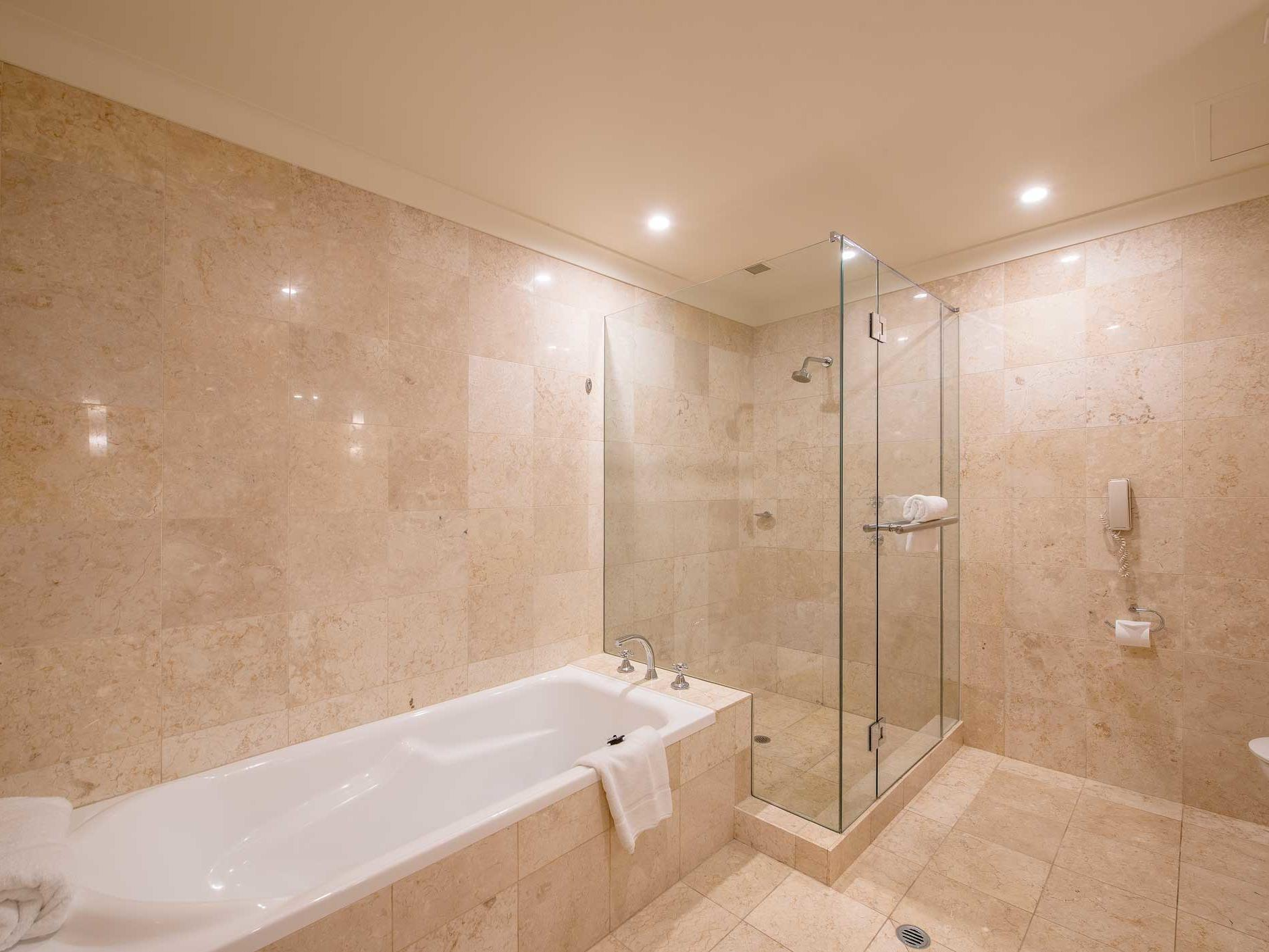 Bathroom of One Bedroom Suite at Duxton Hotel Perth