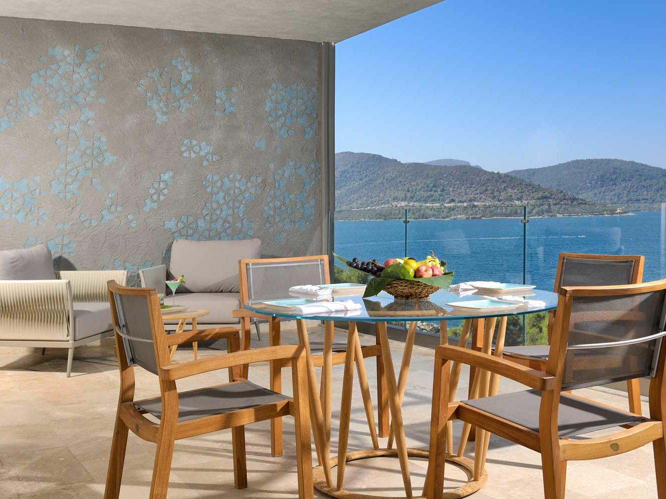 Presidential Suite at Sarpedor Boutique Beach Hotel in Bodrum, Turkey
