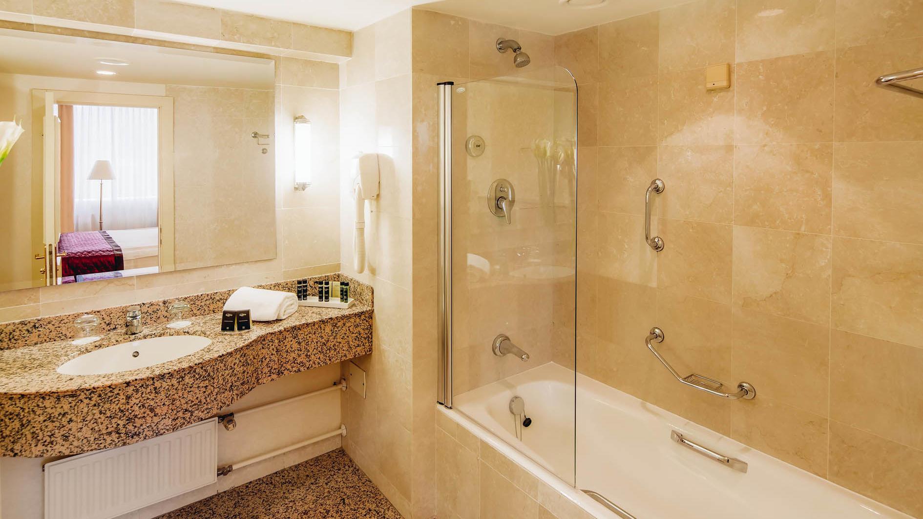 Executive Double Bathroom of Hotel LEV in Ljubljana