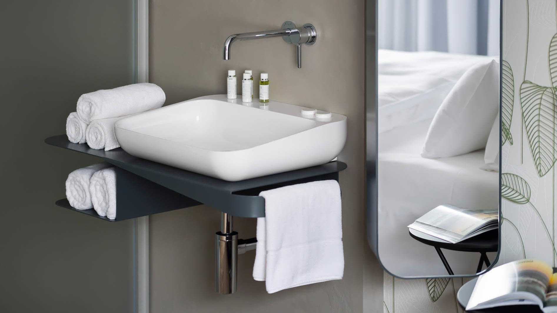 Roomy Double Bathroom at Central Hotel in Ljubljana