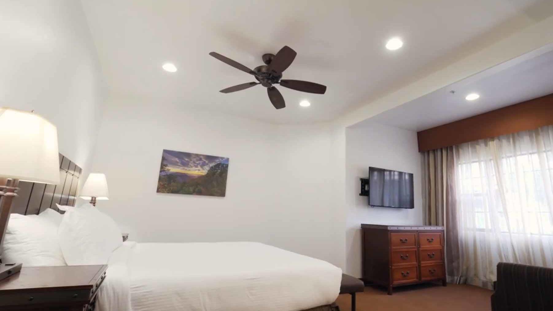 Master bedroom in Los Abrigados two-bedroom unit