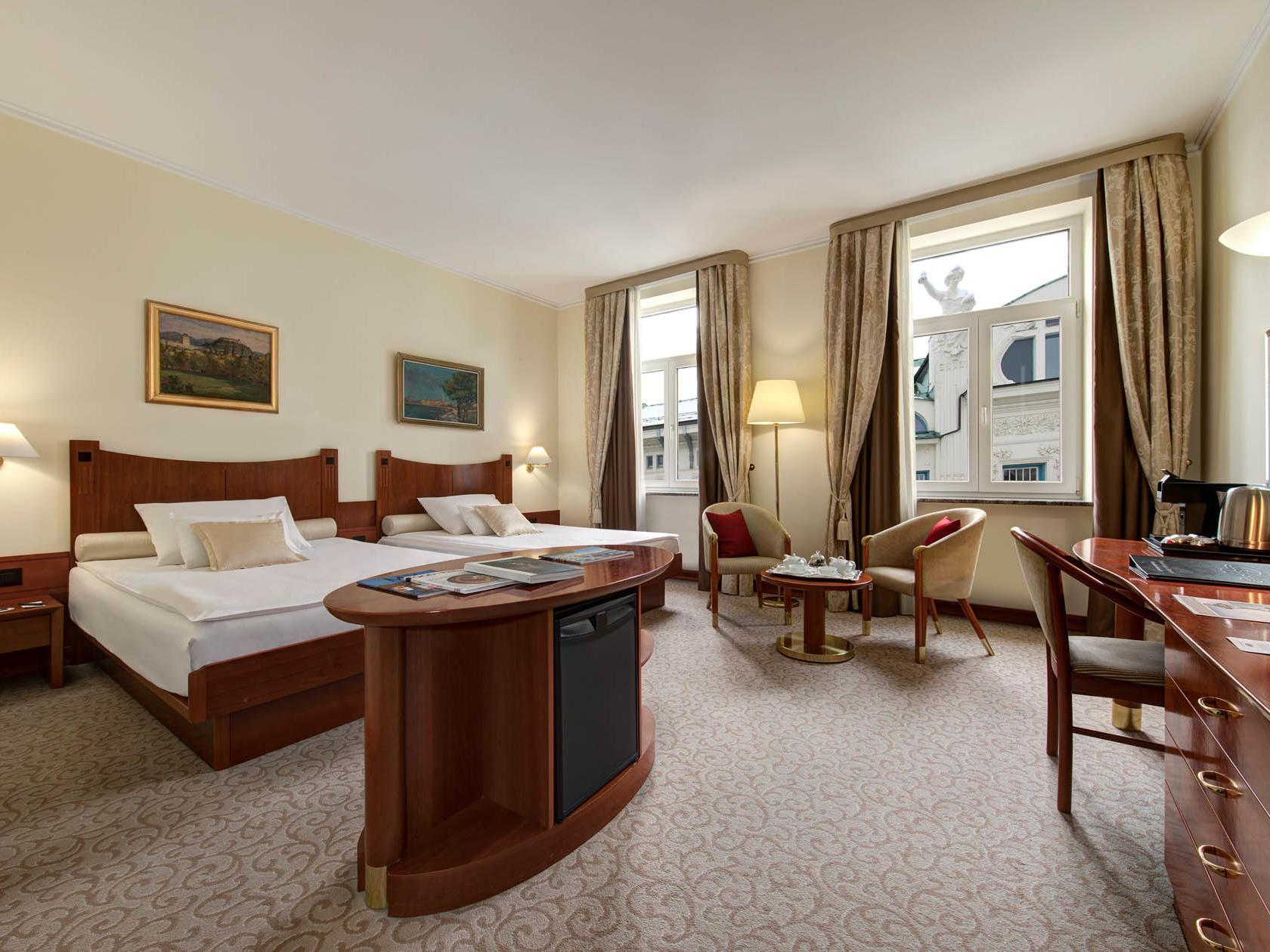 Deluxe Double Room at Grand Hotel Union in Ljubljana