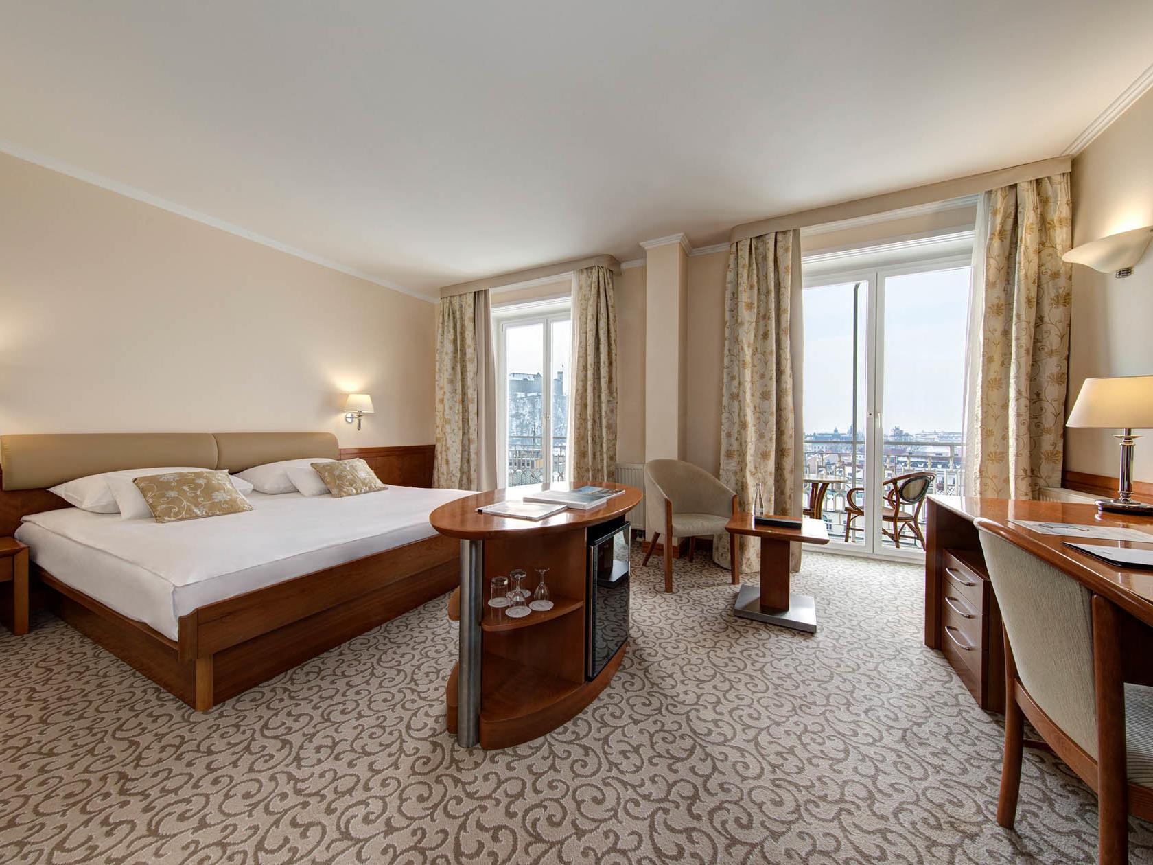 Double Room Castle View at Grand Hotel Union in Ljubljana