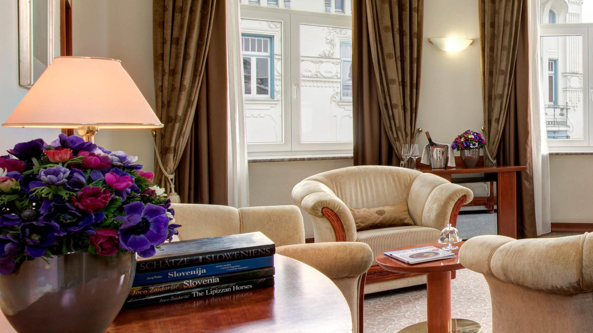 Royal Suite Room at Grand Hotel Union in Ljubljana