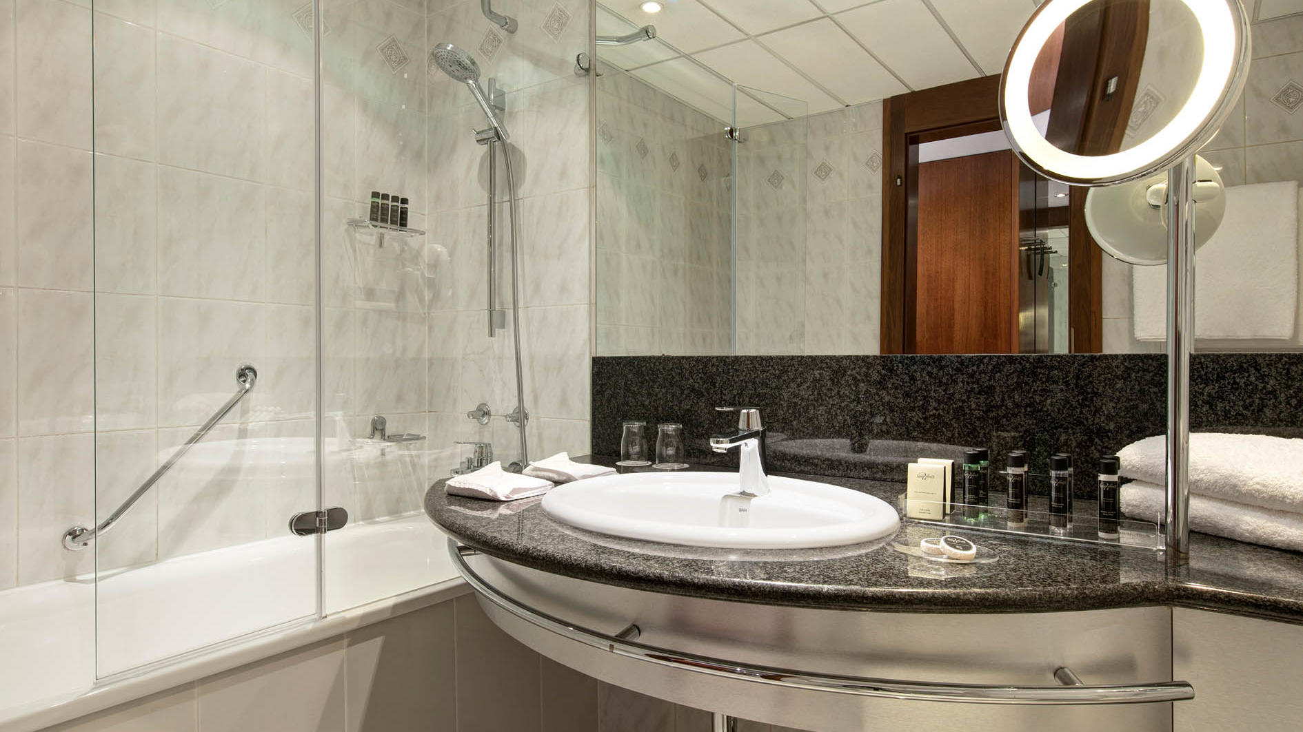 Studio Double Bathroom at uHotel in Ljubljana