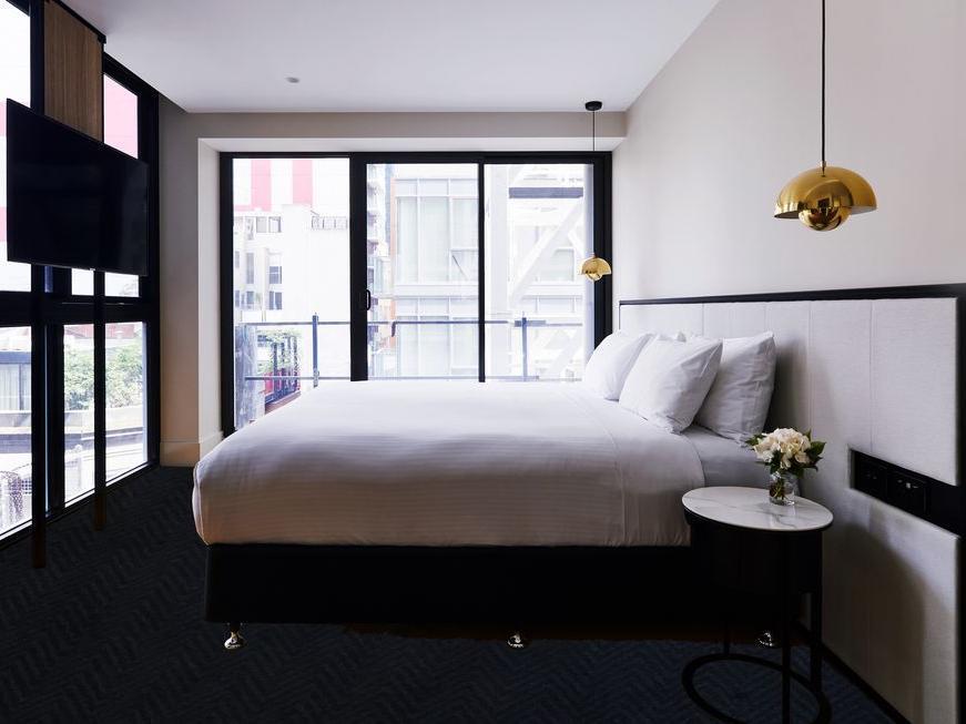 Bedroom at Brady Hotels Jones Lane