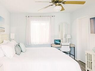Spacious ocean-view hotel room with Queen bed