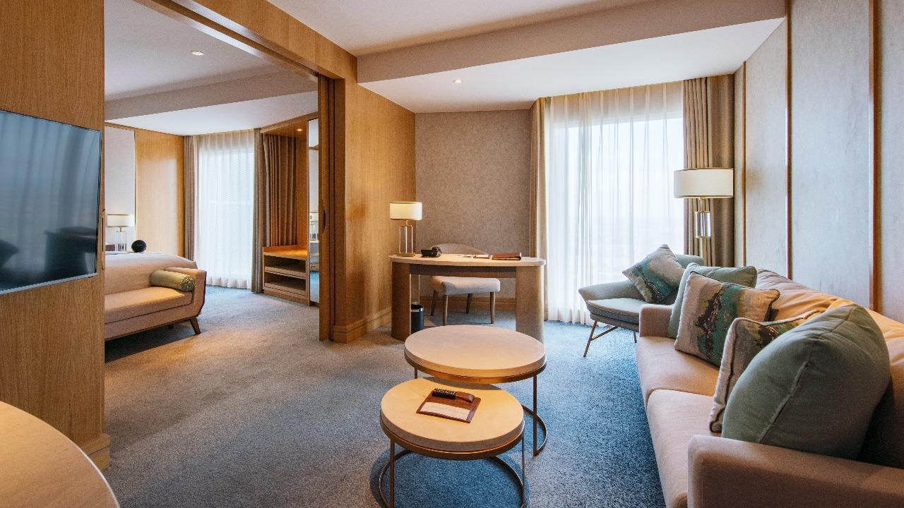 Living room of Glacier Suites