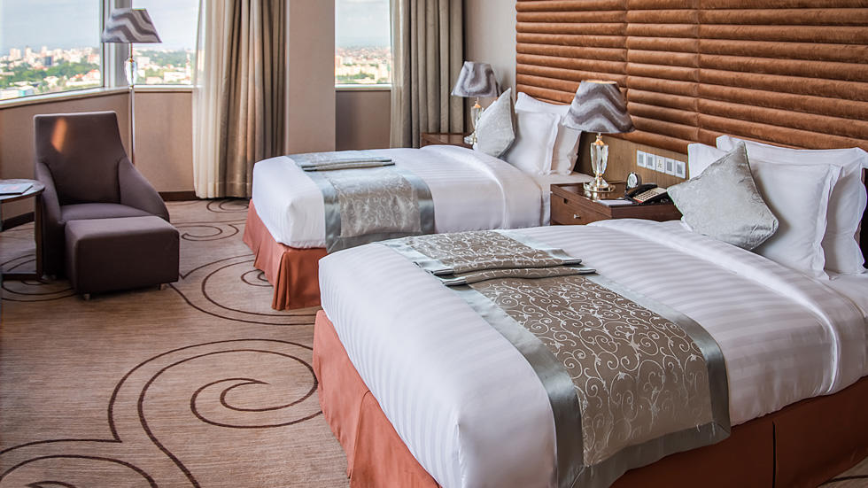Fleuve Twin Room at Fleuve Congo Hotel Hotel in Kinshasa