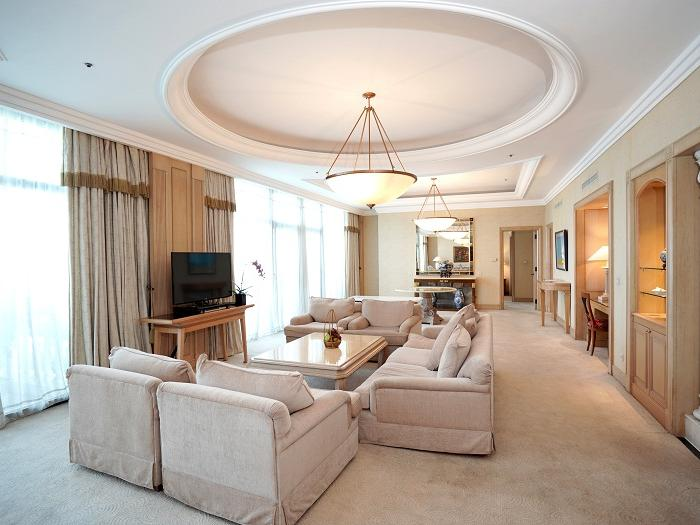 Presidential Suite living area at Hanoi Daewoo Hotel