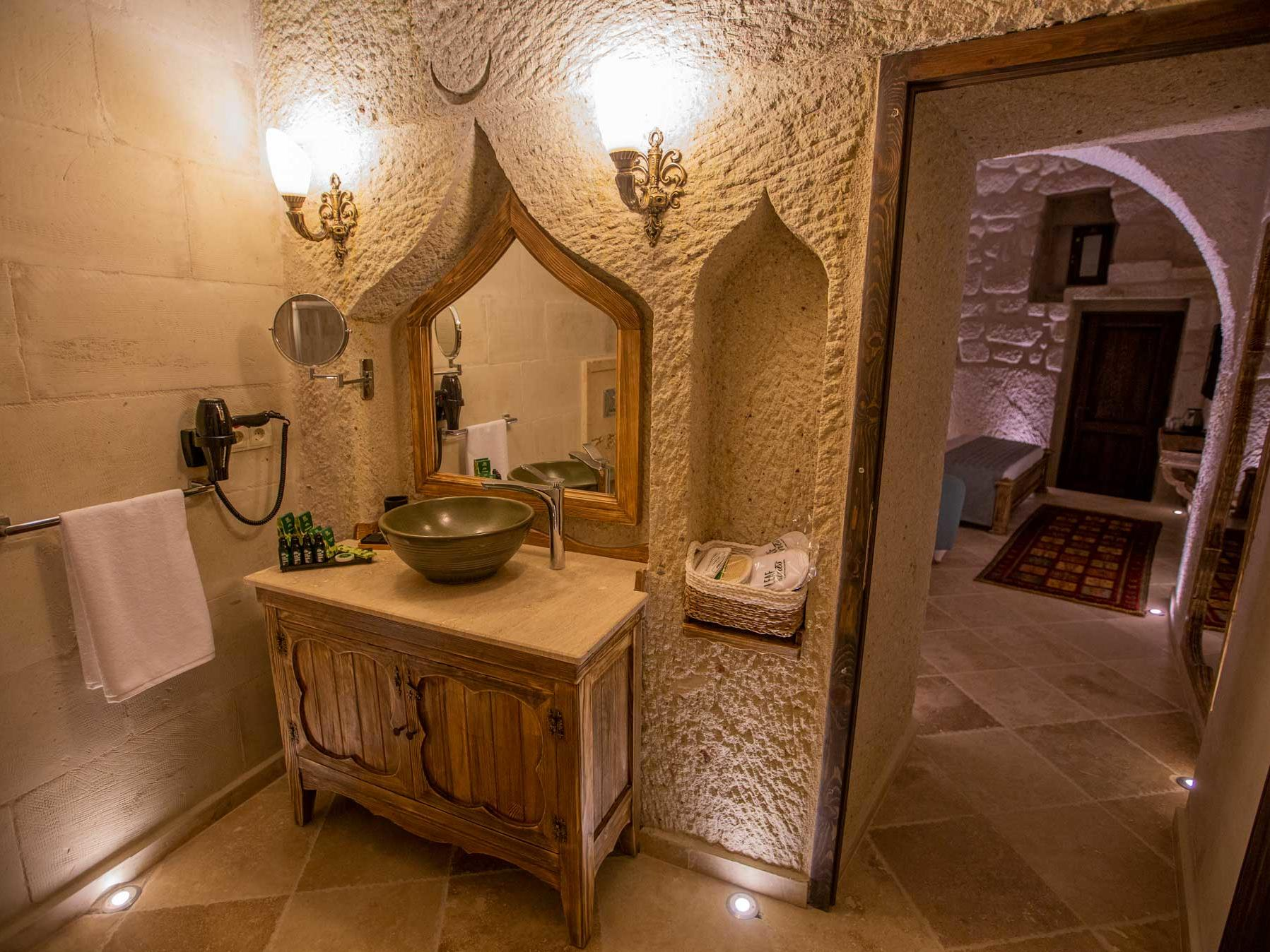 Deluxe Cave Room at Anka Cave Suites in Cappadocia, Turkey