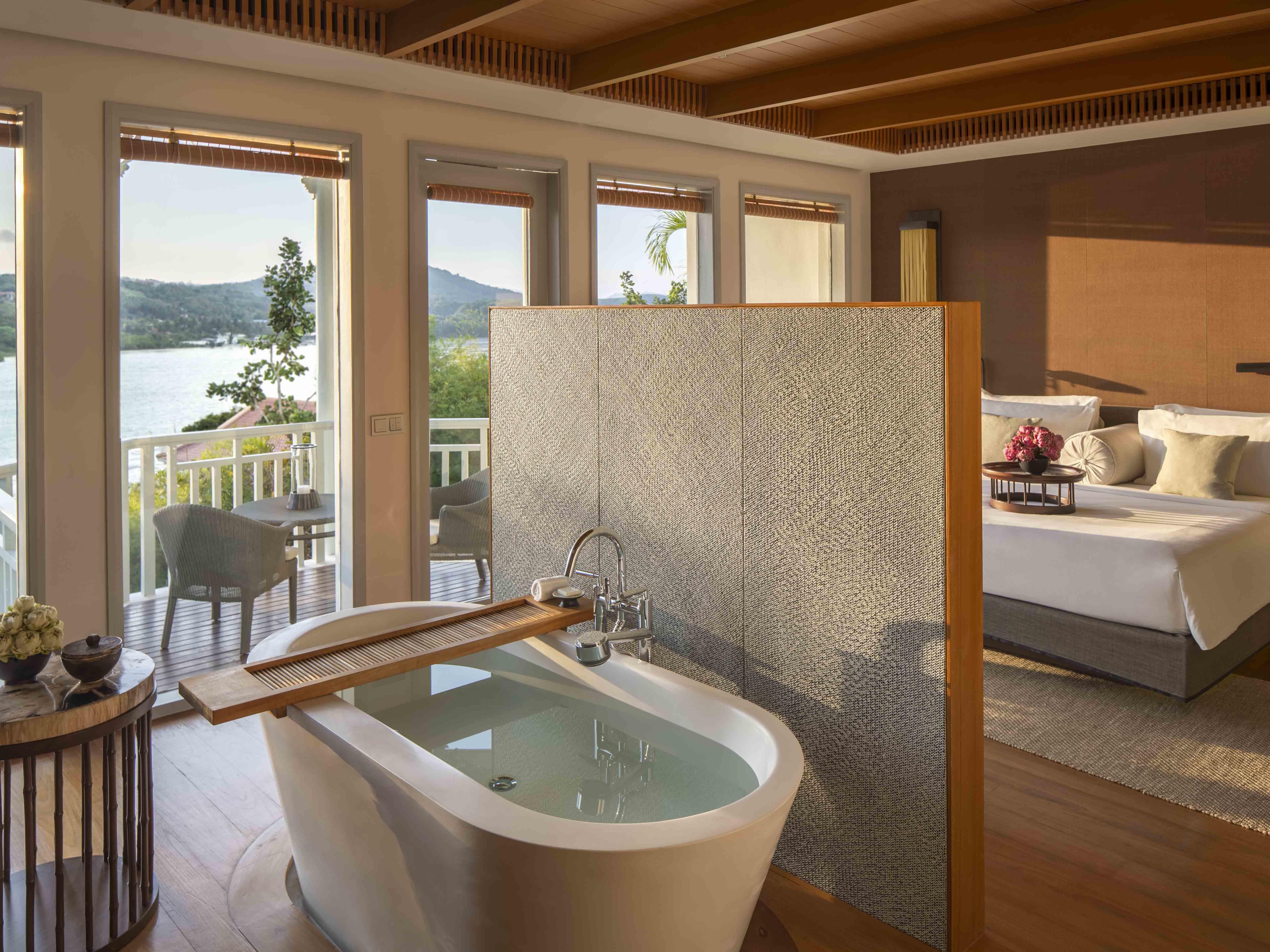 Amatara Wellness Resort Bay View Suite bath tub