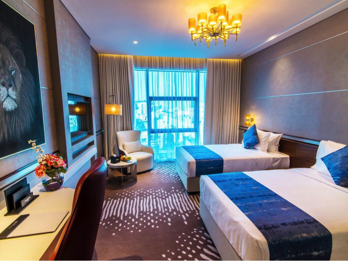 Comfortable king or twin room at VIP Hotel in Doha