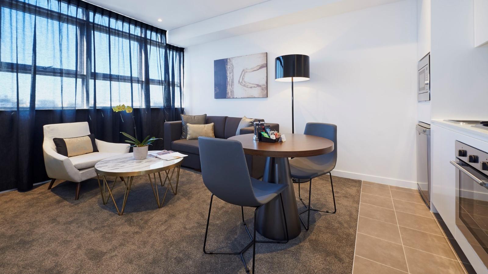 Executive Studio Living Room at  Silkari Suites Chatswood