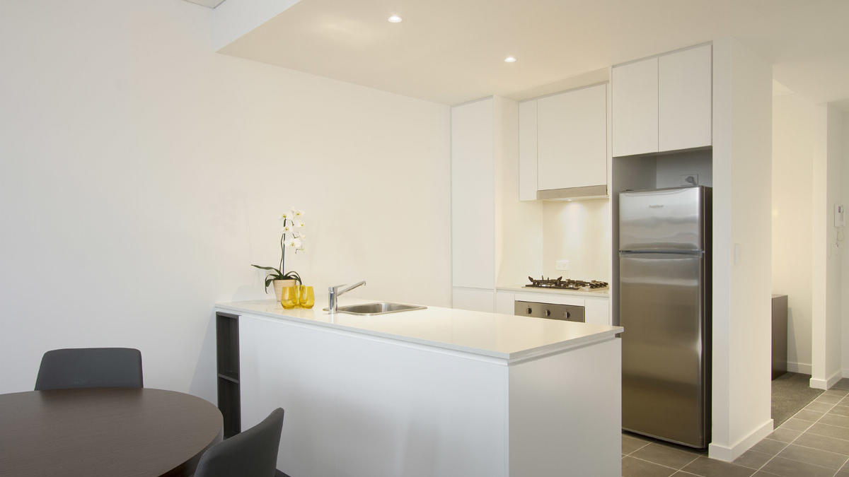 One Bedroom Kitchen at Silkari Suites Chatswood