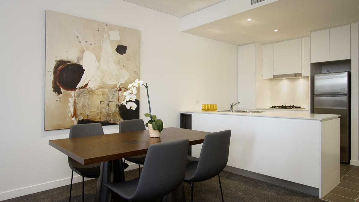 Two Bedroom Kitchen at Silkari Suites Chatswood