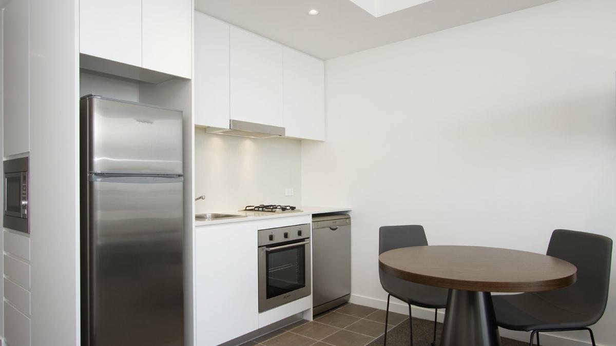 Kitchen in Studio at Silkari Suites Chatswood