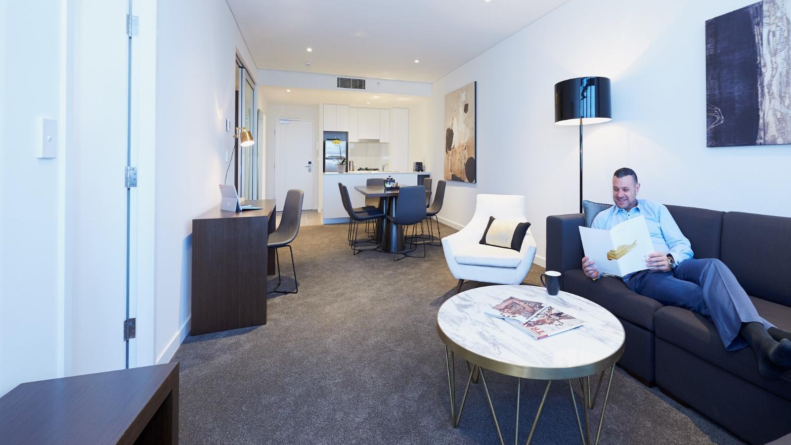 Two Bedroom Living at Silkari Hotel Port Douglas