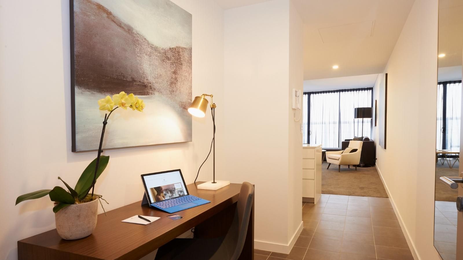 One Bedroom Terrace Entrance at Silkari Suites Chatswood