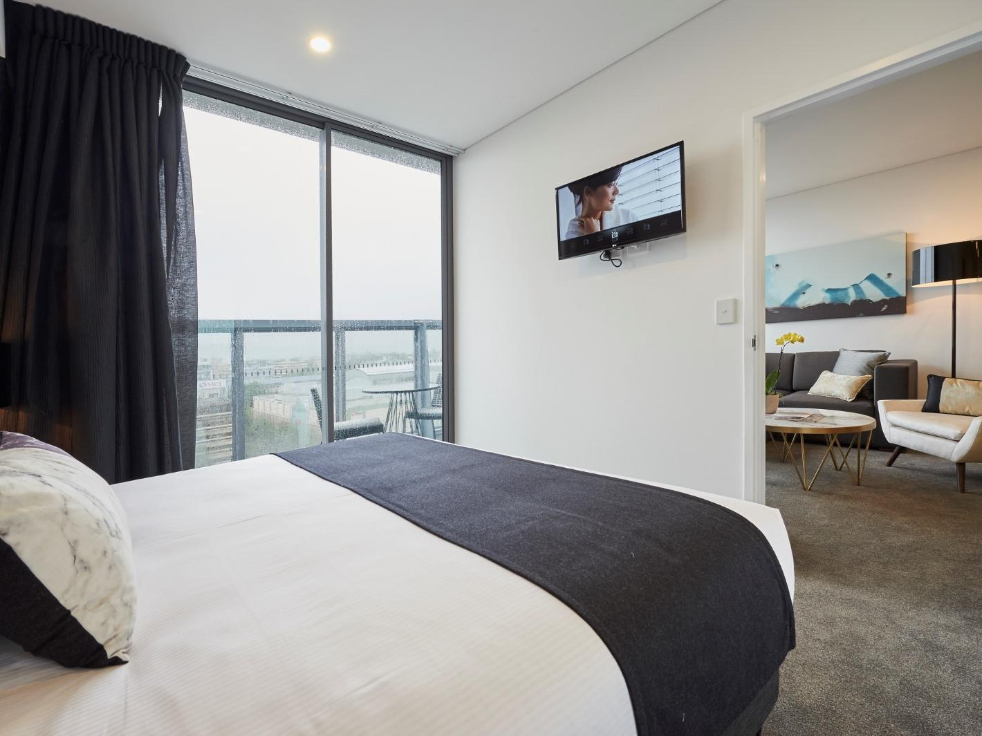 Terrace Bedroom at Silkari Suites Chatswood
